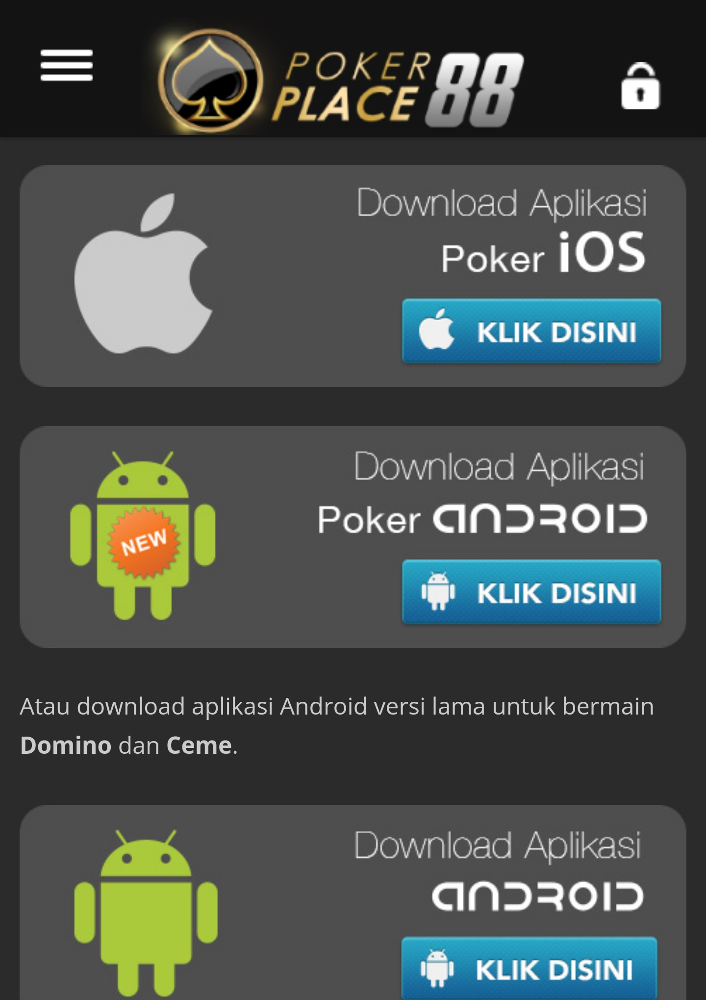 Download App Domino iPhone